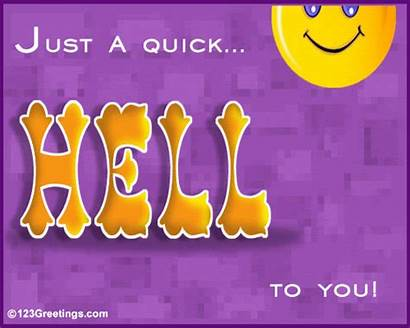 Hello Hi Quick Friend Greeting Greetings Cards