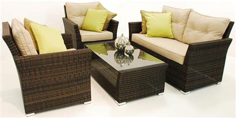 2015 4pc outdoor rattan sofa set brown or black in