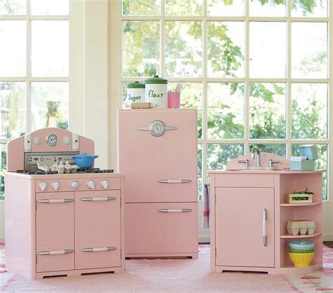 retro pink kitchen  pottery barn  bad