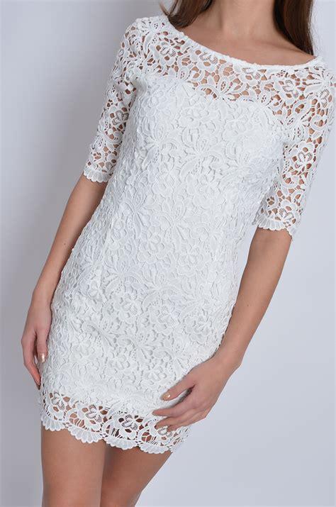 sukienka z grubej gipiury gołe plecy kremowa cocomoda pl
