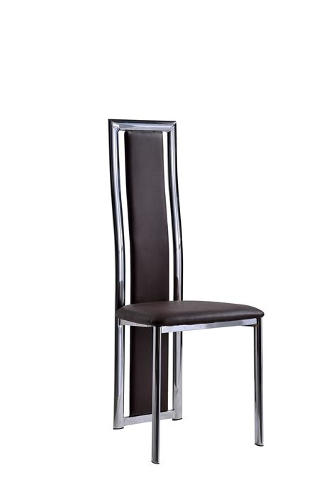 elsa black faux leather dining room chairs kitchen