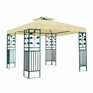 Pavillon 3 X 3 : tonnelle pavillon m tallique 3 x 3 m plein air camping ~ Orissabook.com Haus und Dekorationen