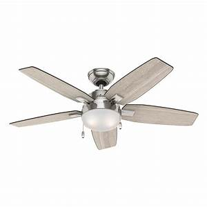 Hunter Antero 46 in LED Indoor Brushed Nickel Ceiling Fan