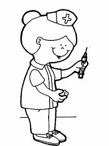 Dinosaur Nurse Coloring Pages Kids Doctor Day Coloring