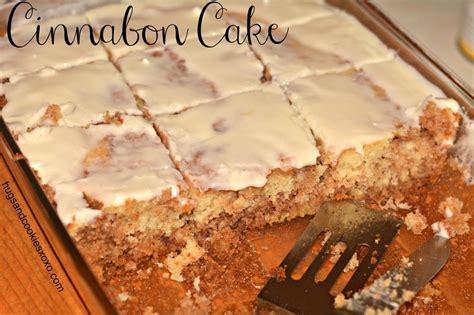 cinnabon cake  cream cheese frosting hugs