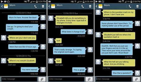 womans hilarious texts    mother