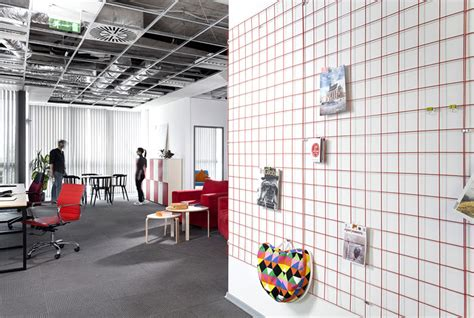 cache bureau advertising agency office by cache atelier interiorzine