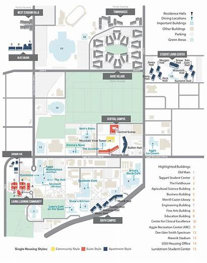 Housing Usu Map Dining Locations Residence