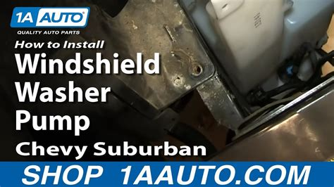 replace windshield washer pump   chevy suburban