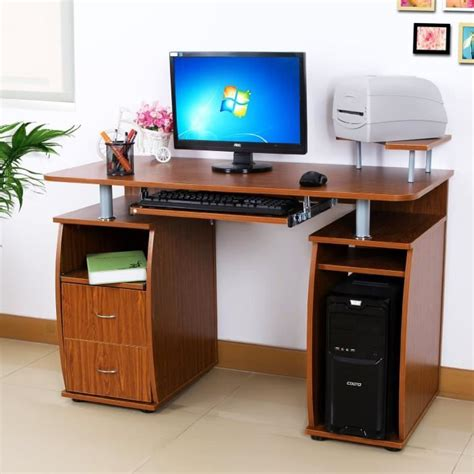 bureau d ordinateur bureau table d 39 ordinateur table avec 2 tiroirs et