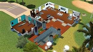 plan de maison moderne avec piscine