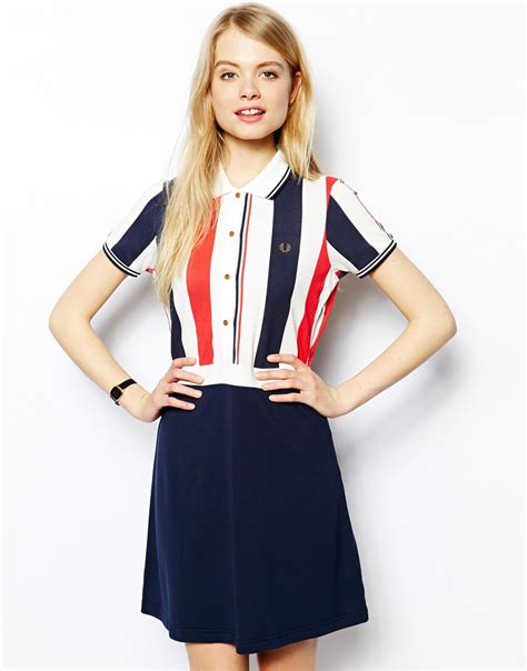 lyst fred perry southsea deckchairs polo dress