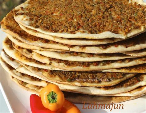 cuisine de turquie lahmacun pizza turque sousoukitchen