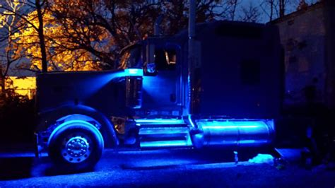 led semi truck lights rgb color changing interior signs using 12vdc ecolocity