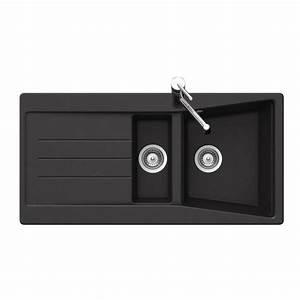 Evier Noir 1 Bac : vier granit noir ewi bruyere 1 bac 1 2 1 gouttoir ~ Dailycaller-alerts.com Idées de Décoration