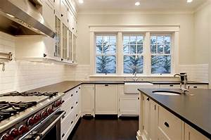 absolute black granite transitional kitchen benjamin With kitchen colors with white cabinets with phases of the moon wall art