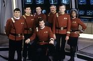 Cast of Star Trek V: The Final Frontier, 1989 (photo ...