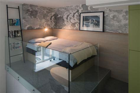 small studio apartment  stockholm  sleeping loft
