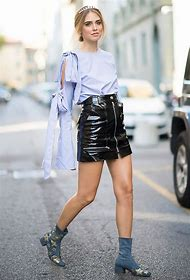 Mini Skirt Street Style Fashion