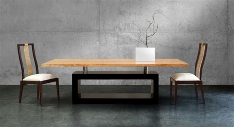table de cuisine avec rallonge table a manger design bois