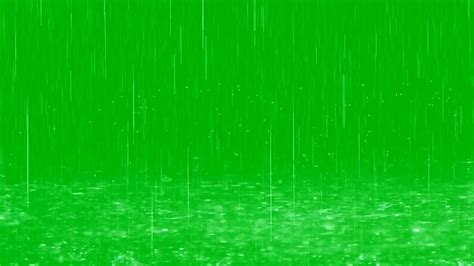 raindrops fall  puddles green screen effect youtube