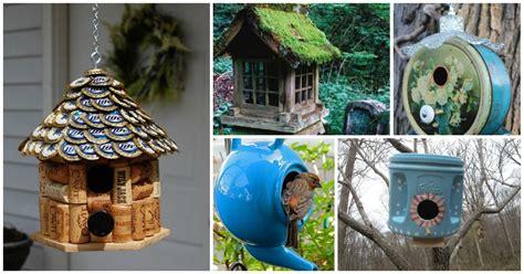 adorable diy bird houses      recycling