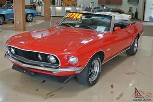 1969 Ford Mustang Convertible 351 4v Red Black Top! 97K