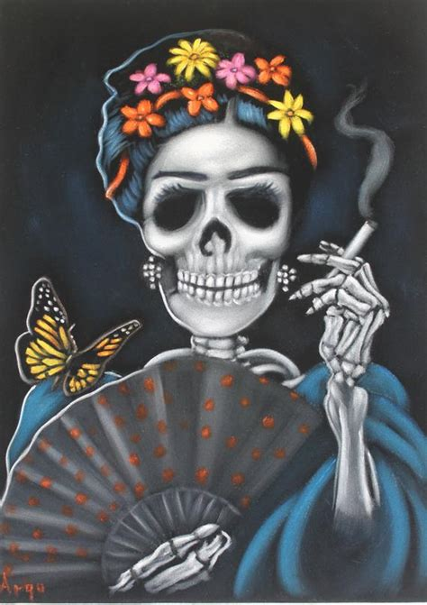 catrina mexicana frida kahlo inmortalidad craneo terciopelo