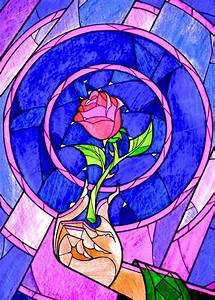 Enchanted Rose Stained Glass | Disney Magic | Pinterest ...