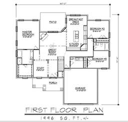 1996sf ranch house plan w garage on basement