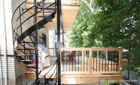 two story deck kobelt patios et cl 244 tures beaulieu