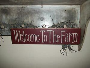 Wood Sign Farm House Rustic Country Prim Decor Wall