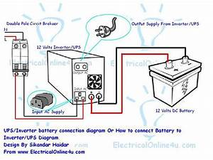 Do It By Self With Wiring Diagram  How To Connect Ups Inverter To Battery And To Ac Supply