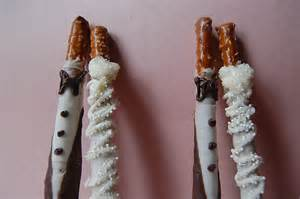 Bride and Groom Chocolate Covered Pretzel Wedding Favors