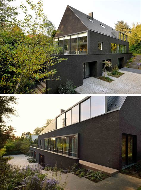 black brick house this contemporary black brick house was renovated for a new life in belgium contemporist