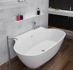 Badewanne Freistehend An Wand : freistehende badewanne aus mineralguss luxx stone wei ~ Lizthompson.info Haus und Dekorationen