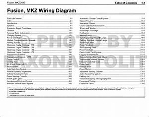 2013 Ford Fusion Lincoln Mkz Wiring Diagram Manual Original Gasoline Models