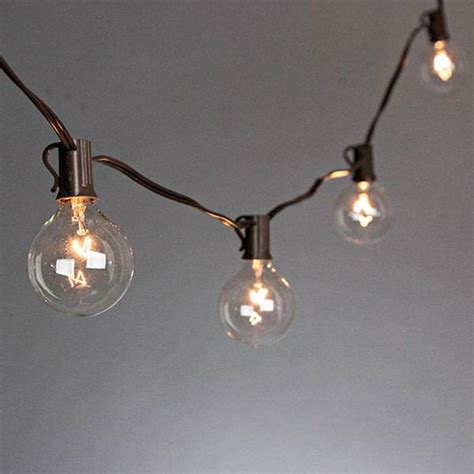 gerson 20297 20 light brown wire g40 clear electric