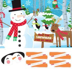 pin  nose   snowman party game party city