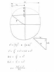 Krümmungsradius Berechnen : radius einer halbellipse berechnen onlinemathe das mathe forum ~ Themetempest.com Abrechnung