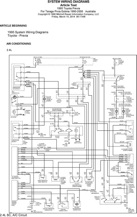 Wiring Diagrams For Toyota Estima Library