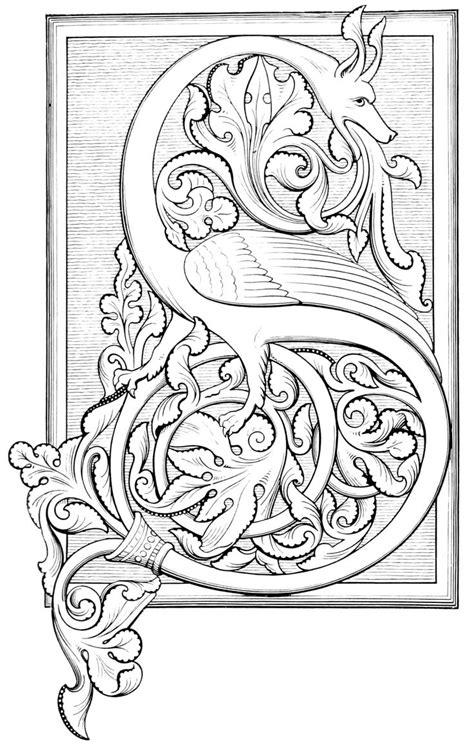 capital letter manuscript illuminated letters celtic alphabet illumination art