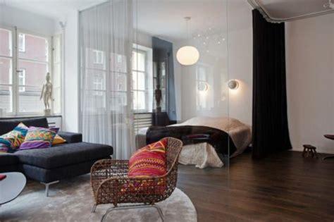 cloison chambre salon la séparation de pièce amovible optez pour un rideau