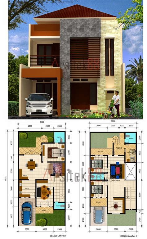 gambar rumah minimalis  lantai ukuran  gambar