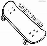 Skateboard Coloring Printable Boy Cool sketch template