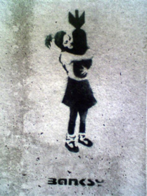 banksy author  wall  piece