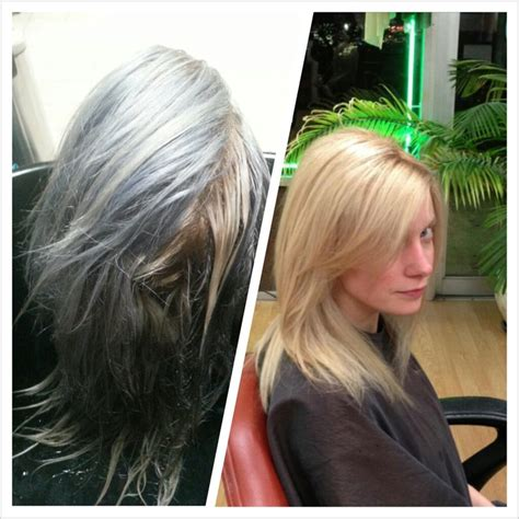 Before And After Corrective Color By Meplatinum Blonde