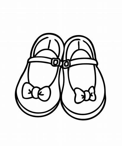 Shoes Coloring Pages Shoe Printable Booties Pretty
