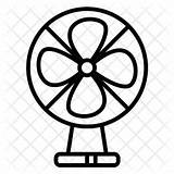 Fan Electric Drawing Icon Appliance Household Device Line Clipartmag sketch template