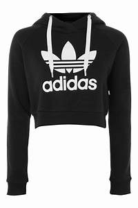 Crop Logo Hoodie by adidas Originals - ShopperBoard